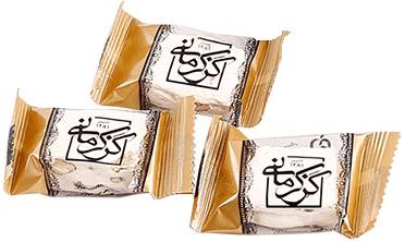 گز کرمانی 28% مخلوط (پسته و بادام) لقمه ای باز شده