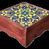 گز مخصوص مظفری جعبه چوبی و کاشی دست ساز