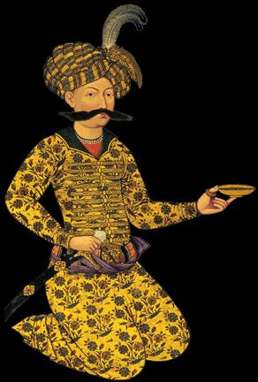 تصویر شاه عباس و نماد اصفهان و سوغات گز