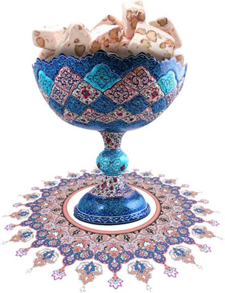 گز خوری گلدان خاتم کاری اصفهان