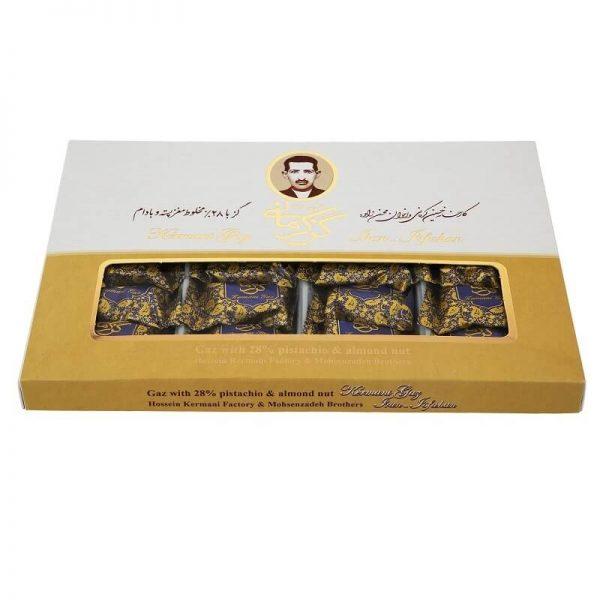 گزکرمانی 28% مخلوط پسته بادام لقمه گرمی اصفهان