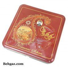 سوهان عسلی تخت گز کرمانی جعبه فلزی – ۴۵۰ گرم