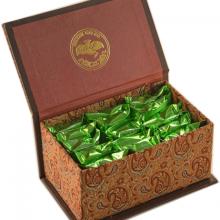 گز سکه ۴۰% پسته زعفرانی لقمه – صندوقچه ترمه | فروشگاه گز سکه