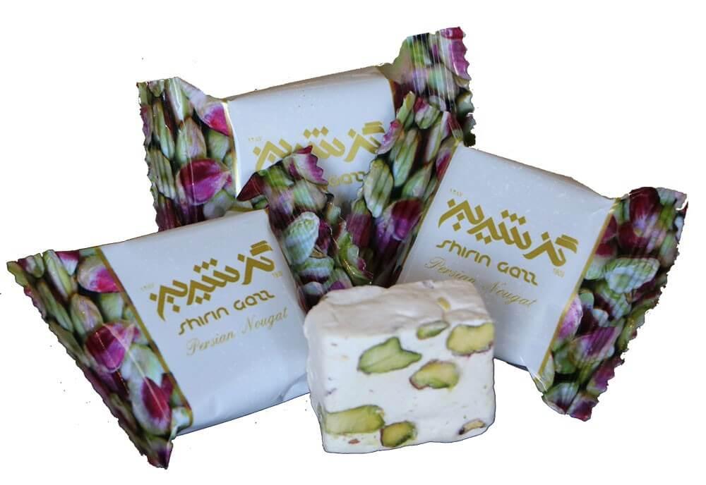 گز شیرین 18% پسته لقمهای باز شده 400 گرمی صادراتی